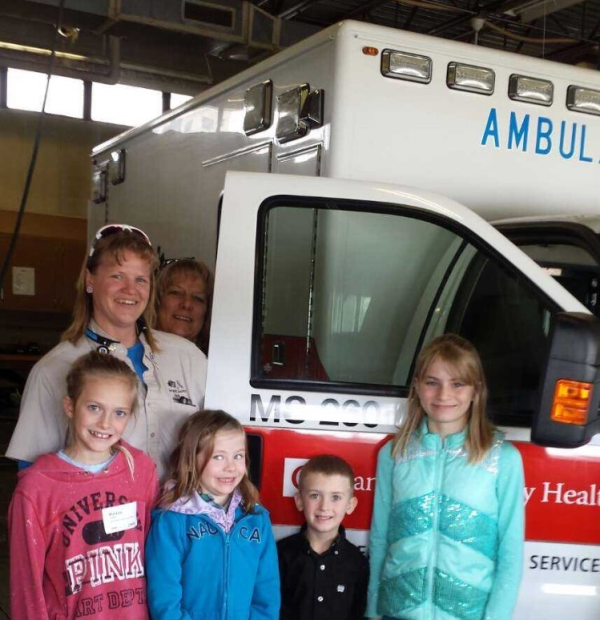 CCH EMS ambulance tour Gillette, Wyoming